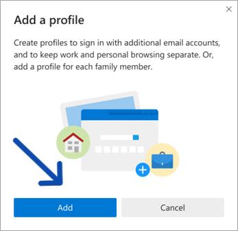 use multiple User Profiles in Microsoft Edge