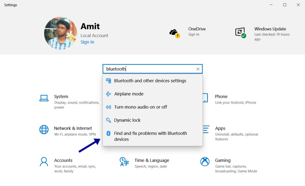 bluetooth file transfer not working windows 10