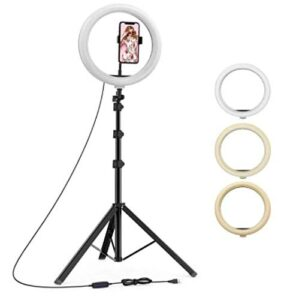 best ring light stand with phone holder, best tripod with ring light